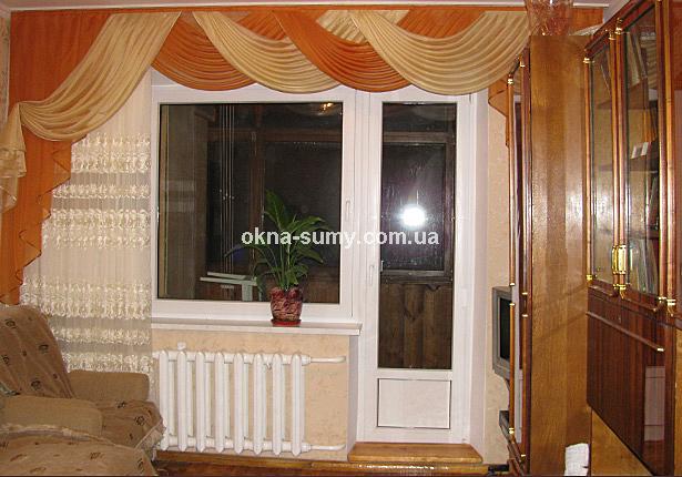 """Балконный блок окна сумы от """"дрезднер фенстербау"""" широкие ст."""